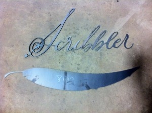 An example of some sign parts, frech off the cutting table.