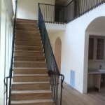 This job had over 60 feet of railing, with every picket attaching to the sides of the treads.