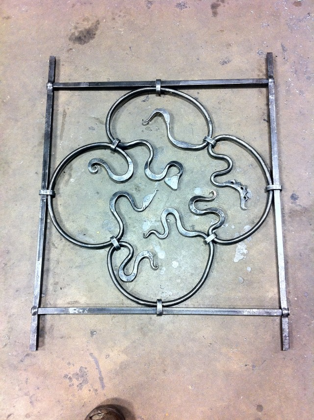 This panel was made without welding or grinding, using all traditional methods